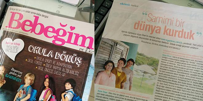 """""""Bebeğim ve Biz"""" Dergisi Eylül Sayısındayız…"""